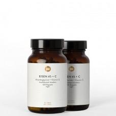 EISEN-CHELAT 45mg EISENBISGLYCINAT + Vitamin C natürlich 120 st