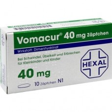 VOMACUR 40 Suppositorien 10 St