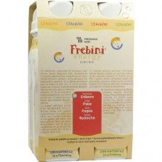 FREBINI Energy Drink Erdbeere Trinkflasche 4X200 ml
