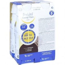FREBINI Energy Fibre Drink Schokolade Trinkfl. 4X200 ml