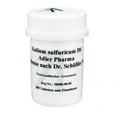 BIOCHEMIE Adler 6 Kalium sulfuricum D 6 Tabletten 200 St