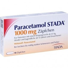 PARACETAMOL STADA 1.000 mg Zäpfchen 10 St
