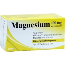 MAGNESIUM 100 mg Jenapharm Tabletten 20 St