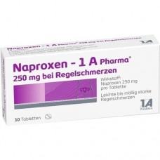 NAPROXEN 1A Pharma 250 mg b.Regelschmerzen Tabl. 10 St