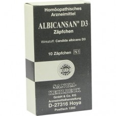 ALBICANSAN D 3 Suppositorien 10 St