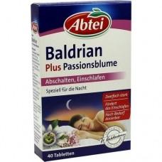 ABTEI Baldrian plus Passionsblume überz.Tabl. 40 St