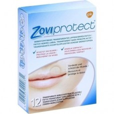 ZOVIPROTECT Lippenherpes-Patch transparent 12 St