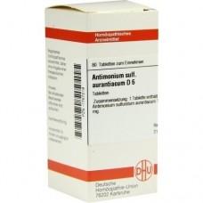 ANTIMONIUM SULFURATUM aurantiacum D 6 Tabletten 80 St