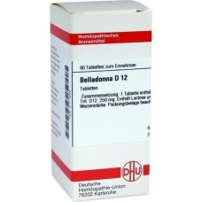 BELLADONNA D 12 Tabletten 80 St