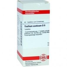 THALLIUM ACETICUM D 6 Tabletten 80 St