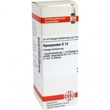 HYOSCYAMUS D 12 Dilution 20 ml