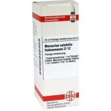 MERCURIUS SOLUBILIS Hahnemanni D 12 Dilution 20 ml