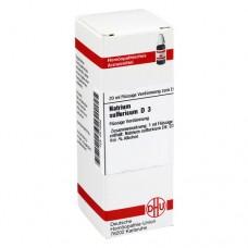 NATRIUM SULFURICUM D 3 Dilution 20 ml