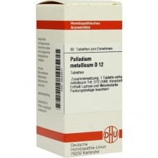 PALLADIUM METALLICUM D 12 Tabletten 80 St