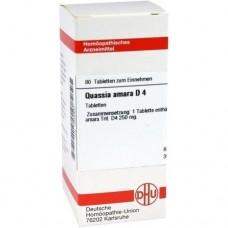 QUASSIA D 4 Tabletten 80 St