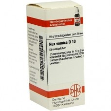 NUX VOMICA D 10 Globuli 10 g