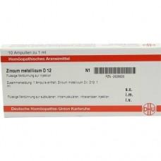 ZINCUM METALLICUM D 12 Ampullen 10X1 ml
