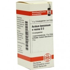 ACIDUM BENZOICUM E Resina D 3 Globuli 10 g