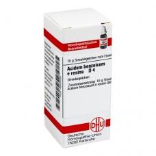 ACIDUM BENZOICUM E Resina D 4 Globuli 10 g