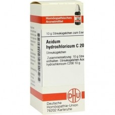 ACIDUM HYDROCHLORICUM C 200 Globuli 10 g