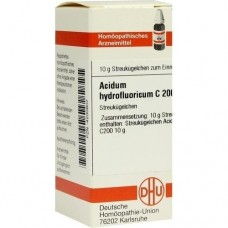 ACIDUM HYDROFLUORICUM C 200 Globuli 10 g