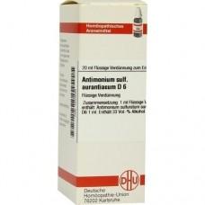 ANTIMONIUM SULFURATUM aurantiacum D 6 Dilution 20 ml