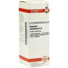 ARGENTUM METALLICUM D 6 Dilution 20 ml