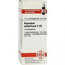ARGENTUM METALLICUM C 30 Globuli 10 g