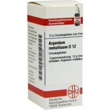 ARGENTUM METALLICUM D 12 Globuli 10 g