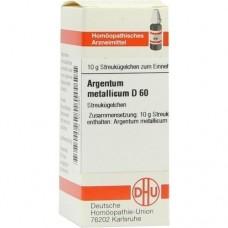 ARGENTUM METALLICUM D 60 Globuli 10 g