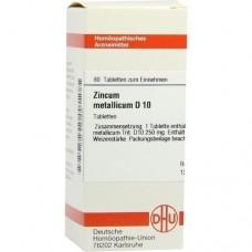 ZINCUM METALLICUM D 10 Tabletten 80 St