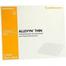 ALLEVYN Thin 10x10 cm dünne Wundauflage 5 St