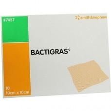 BACTIGRAS antiseptische Paraffingaze 10x10 cm 10 St