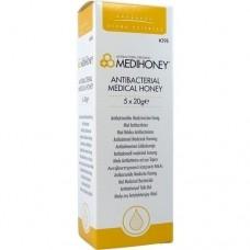 MEDIHONEY Antibakterieller Medizinischer Honig 5X20 g