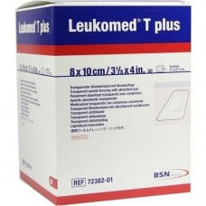 LEUKOMED transp.plus sterile Pflaster 8x10 cm 50 St