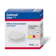 CUTIMED Siltec Plus Schaumverb.10x10 cm haftend 12 St