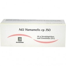 JSO JKH ADERMITTEL Ad 2 Hamamelis cp Globuli 20 g
