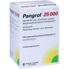 PANGROL 25.000 Hartkps.m.magensaftr.überz.Pell. 100 St