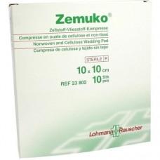 ZEMUKO Kompr.steril 10x10 cm 10 St