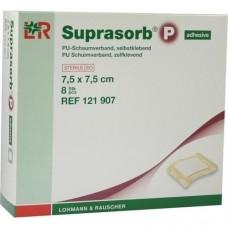 SUPRASORB P PU-Schaumv.7,5x7,5 cm selbstklebend 8 St