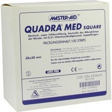 QUADRA MED square 38x38 mm Strips Master Aid 100 St