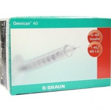 OMNICAN Insulinspr.1 ml U40 m.Kan.0,30x8 mm 100 St
