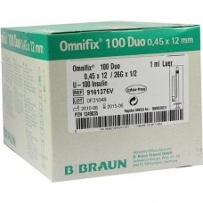 OMNIFIX Duo 100 Insulinspr.1 ml 100X1 ml