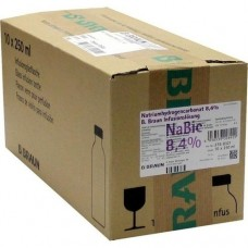 NATRIUMHYDROGENCARBONAT B.Braun 8,4% Glas 10X250 ml
