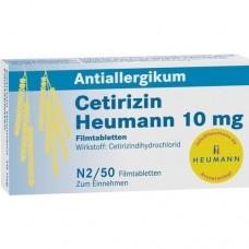 CETIRIZIN Heumann 10 mg Filmtabletten 50 St