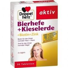 DOPPELHERZ Bierhefe+Kieselerde Tabletten 30 St