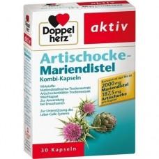 DOPPELHERZ Artischocke+Mariendistel Kapseln 30 St