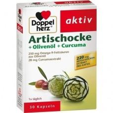 DOPPELHERZ Artischocke+Olivenöl+Curcuma Kapseln 30 St