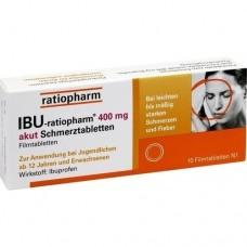 IBU RATIOPHARM 400 mg akut Schmerztbl.Filmtabl. 10 St