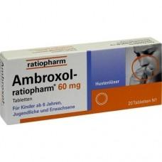 AMBROXOL ratiopharm 60 mg Hustenlöser Tabletten 20 St